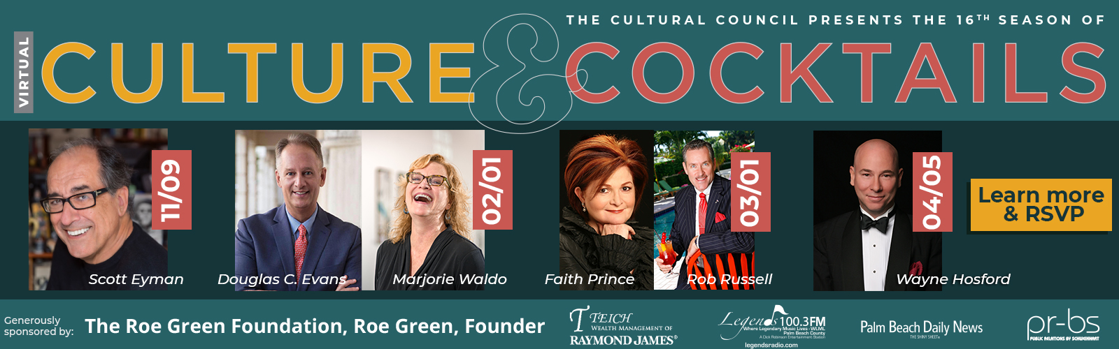Culture & Cocktails 2020-2021 season lineup