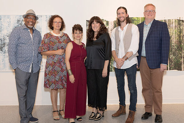 2020 Artist Innovation Fellows with Cultural Council President and CEO Dave Lawrence