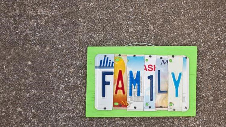Family Saturdays: Collage Art Plate, A Functional Family Keepsake