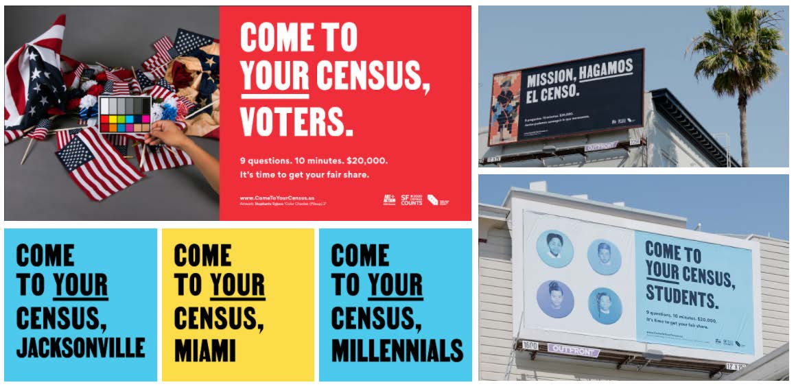 Art + Action Come to Your Census Billboard Open Call
