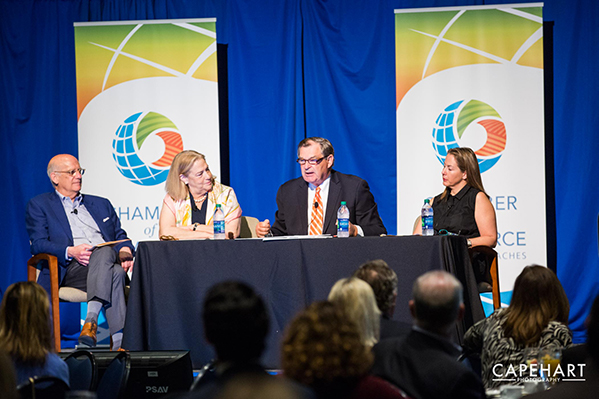Cultural Coalition Committee at Chamber of the Palm Beaches event - Capehart Photography