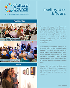 Cultural Council for PBC Facility Use & Tours