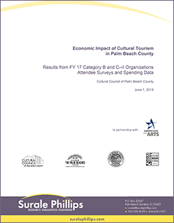 FY2017 economic impact of cultural tourism in Palm Beach County