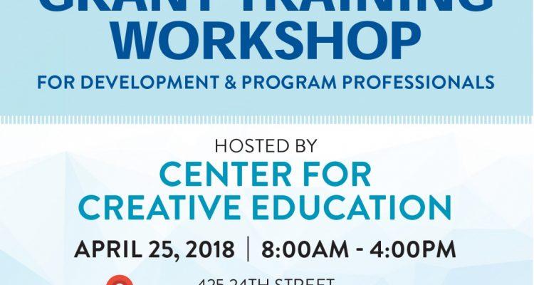 Grant Training Workshop - Center for Creative Education