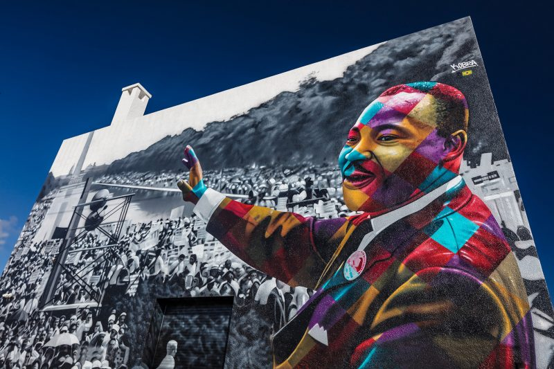 Kobra - MLK mural - photo © Kim Sargent
