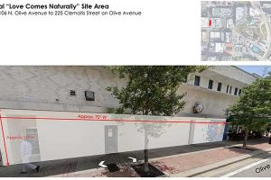 RFP Site Area for Downtown West Palm Beach Love Mural