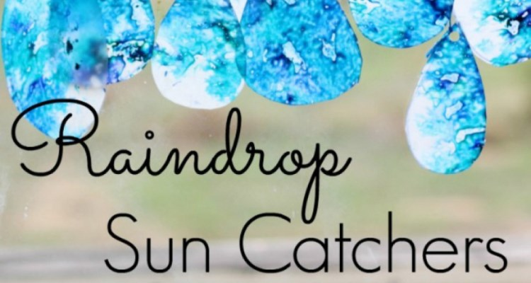 Family Art: Raindrop Suncatchers