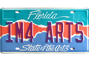 State of the Arts License Plate