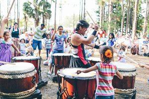 Morikami Museum Taiko Drumming Summer Scene