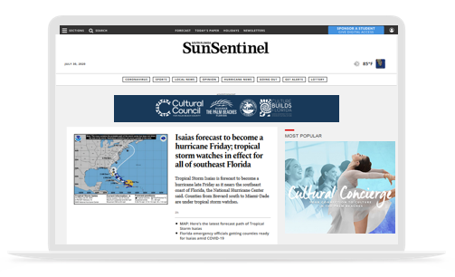 SunSentinel.com co-op ad example