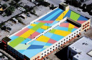Rooftop Mural, Cecilia Lueza, FL 4th District of Appeals art&culture magazine winter 2018
