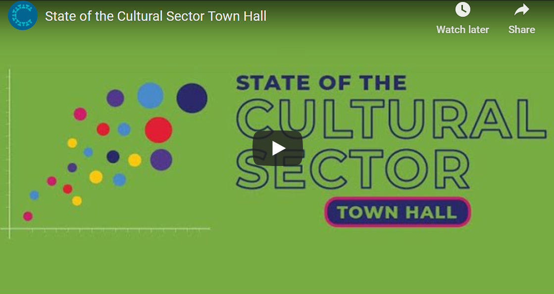 state of the cultural sector town hall